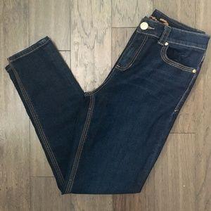 7 Seven High Rise Stretch Skinny Dark Jeans 32